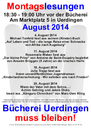 Montagslesung-August 2014